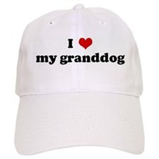 I Love my granddog Baseball Cap
