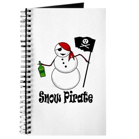 Snowman Christmas Pirate Journal