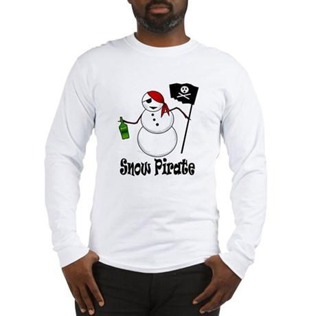 Snowman Christmas Pirate Long Sleeve T-Shirt