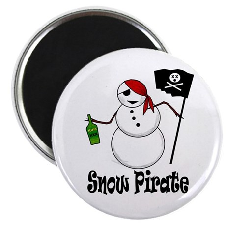 Snowman Christmas Pirate Magnet