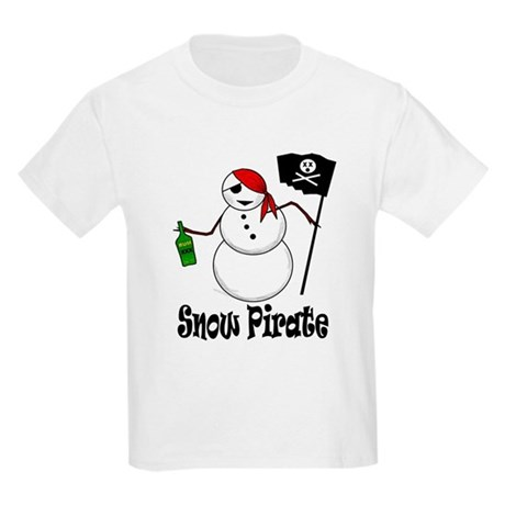 Snowman Christmas Pirate Kids T-Shirt