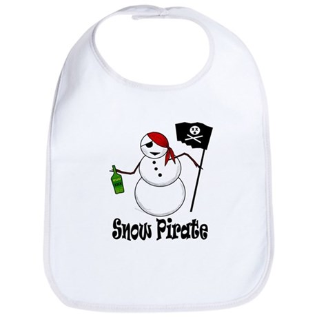 Snowman Christmas Pirate Bib