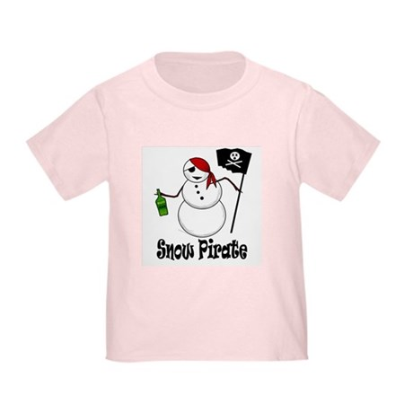 Snowman Christmas Pirate Toddler T-Shirt