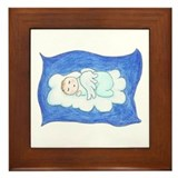 Angel Baby Framed Tile