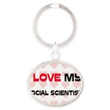 SOCIAL-SCIENTIST77 Oval Keychain