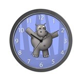 New Blue Hippo Clock