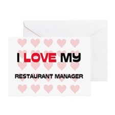 RESTAURANT-MANAGER8 Greeting Card