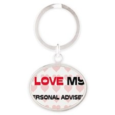 PERSONAL-ADVISER143 Oval Keychain