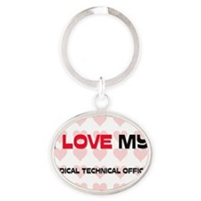 MEDICAL-TECHNICAL-OF41 Oval Keychain
