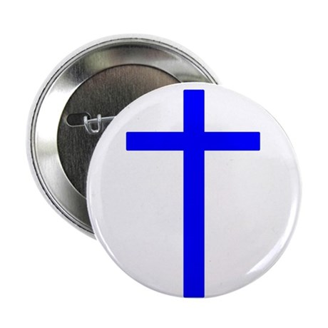 Blue Cross 2.25&quot; Button (100 pack)