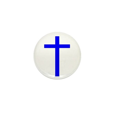 Blue Cross Mini Button