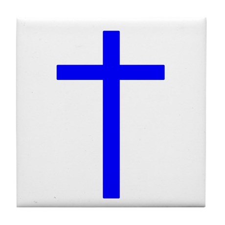 Blue Cross Tile Coaster