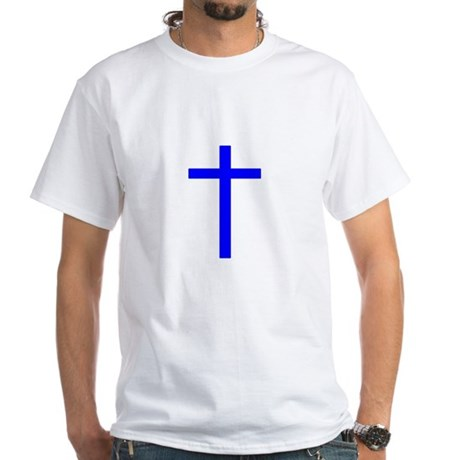 Blue Cross White T-Shirt