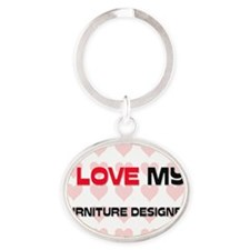 FURNITURE-DESIGNER125 Oval Keychain
