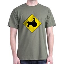 Tractor Crossing Sign - Green T-Shirt