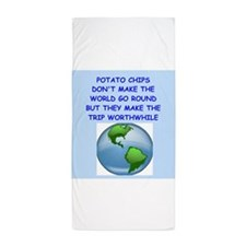 potato chip Beach Towel