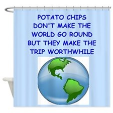 potato chip Shower Curtain
