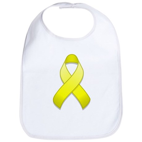 Yellow Awareness Ribbon Bib