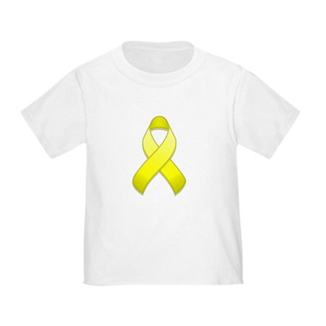 Yellow Awareness Ribbon Toddler T-Shirt