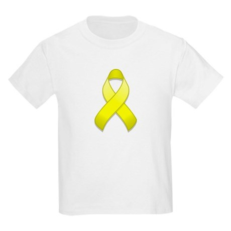 Yellow Awareness Ribbon Kids Light T-Shirt