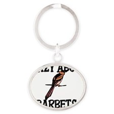 BARBETS73249 Oval Keychain
