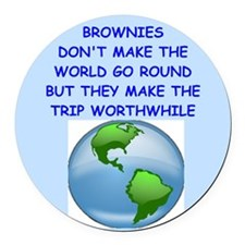 brownies Round Car Magnet