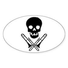 skull & trombones Oval Sticker