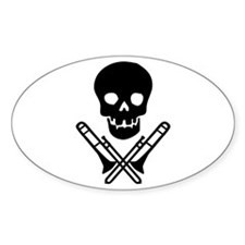 skull & trombones Oval Decal