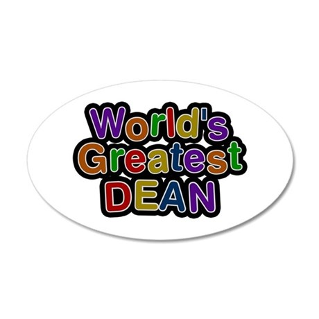 World's Greatest Dean 20x12 Oval Wall Decal