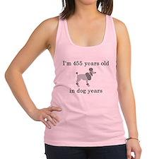 65 birthday dog years poodle Racerback Tank Top