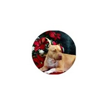 Pit Bull Terrier Christmas V Mini Button