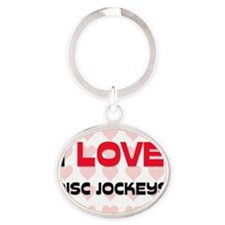 DISC-JOCKEYS141 Oval Keychain