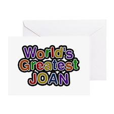 World's Greatest Joan Greeting Card