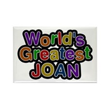 World's Greatest Joan Rectangle Magnet 100 Pack