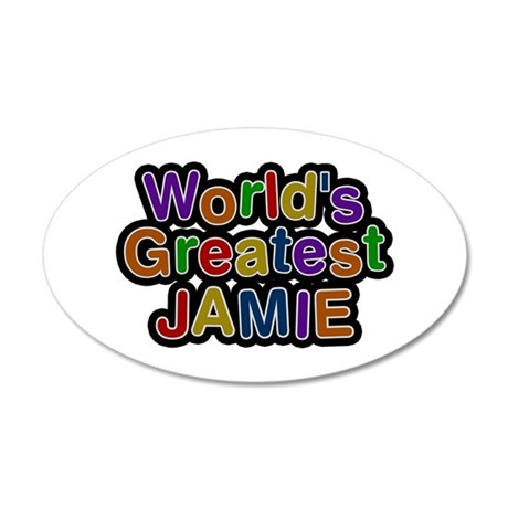 World's Greatest Jamie 35x21 Oval Wall Decal