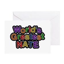 World's Greatest Nate Greeting Card