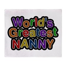 World's Greatest Nanny Throw Blanket