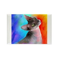 Sphynx Cat 21 Rectangle Magnet