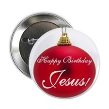"Happy Birthday Jesus 2.25"" Button (100 pack)"