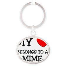 MIME137 Oval Keychain