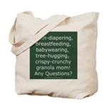 Cloth Diapering Attachment Parenting Tote Bag