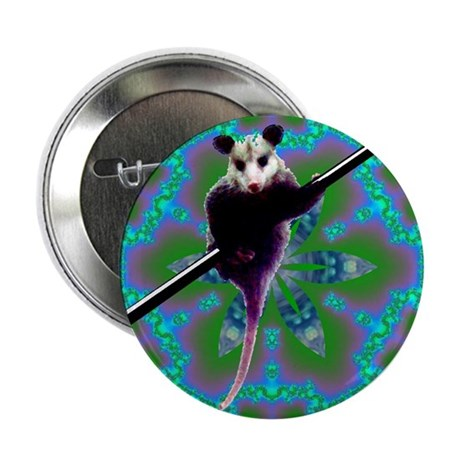 Possum Kaleidoscope Button
