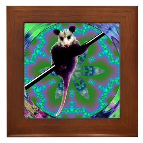 Possum Kaleidoscope Framed Tile