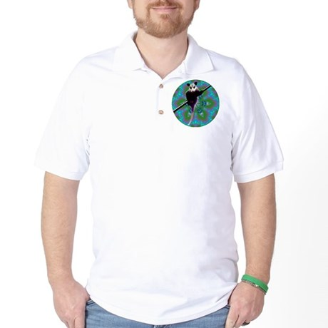 Possum Kaleidoscope Golf Shirt