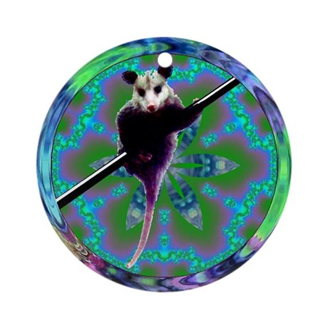 Possum Kaleidoscope Ornament (Round)