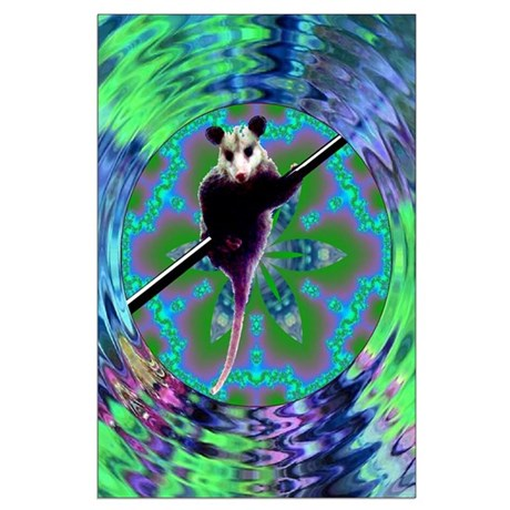 Possum Kaleidoscope Large Poster
