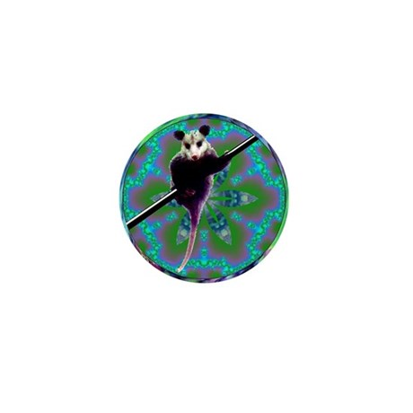 Possum Kaleidoscope Mini Button (100 pack)