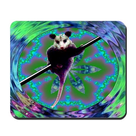 Possum Kaleidoscope Mousepad