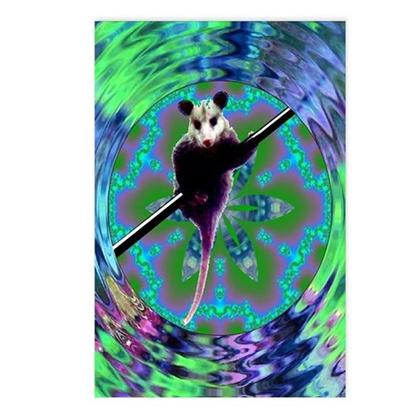 Possum Kaleidoscope Postcards (Package of 8)