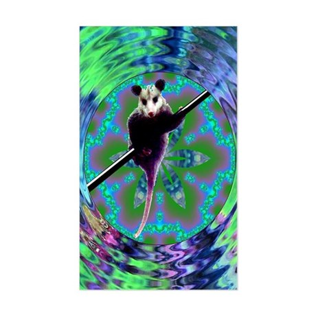 Possum Kaleidoscope Rectangle Sticker